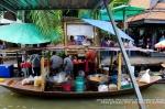 boat vendor | taling chan floating market | bangkok | thailand